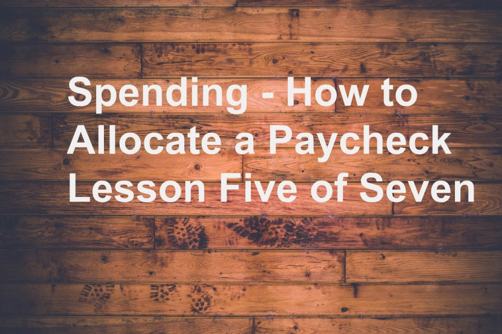 Spending how to allocate a paycheck