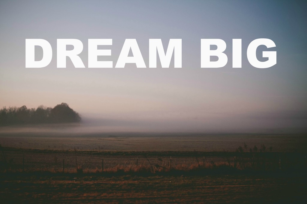 Make your dream big and your annual goal small